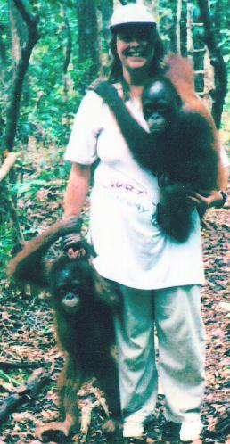 Wendy in Borneo
